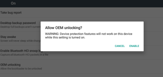 Unlocking OEM Bootloader Settings Not Safe!