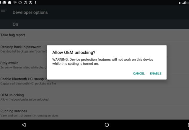 Unlocking OEM Bootloader Settings Not Safe!