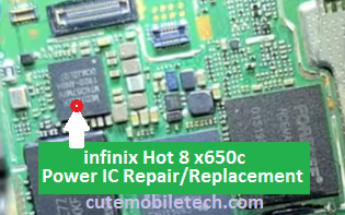 Infinix hot 8 X650c Power IC Solution 2