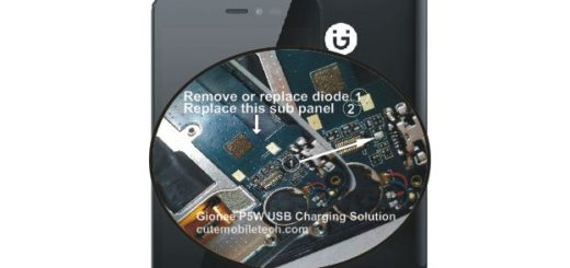 Gionee P5W USB Charging Solution