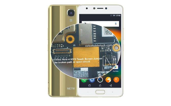 Infinix Note 4 Touch Screen Calibrator & Jumper