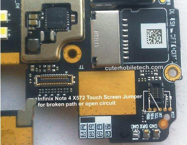 Infinix Note 4 Touch Screen Calibrator & Jumper