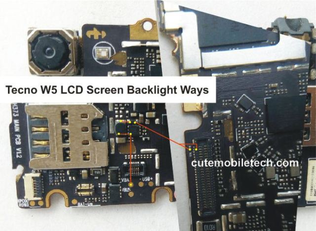 Tecno W5 Screen Backlight Solution