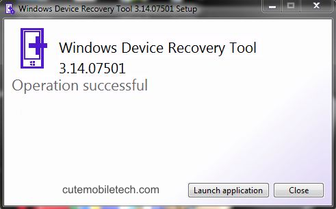 Successful Device Recover-Update Installation 4