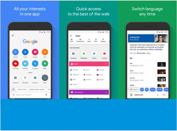 Google Go Lite Voice Browser Reads For You