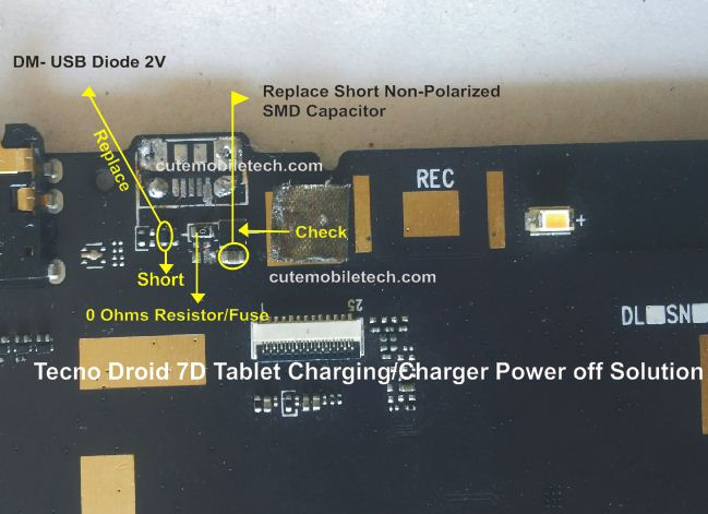 Tecno 7D USB Charging Power Off Solution (Tablet)