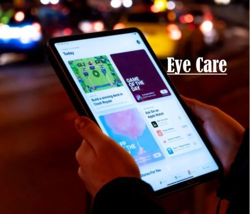 Reading on phone eye care apps