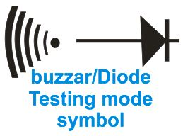 multi-meter testing/measuring phone parts buzzar mode icon