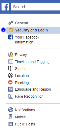 Facebook account security and login