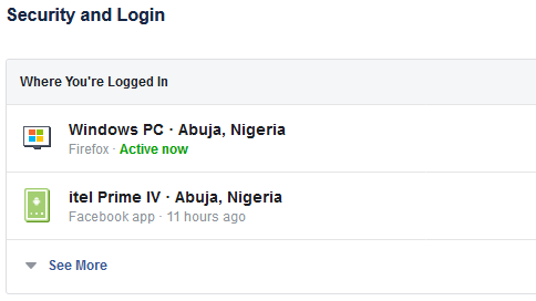 facebook account active login
