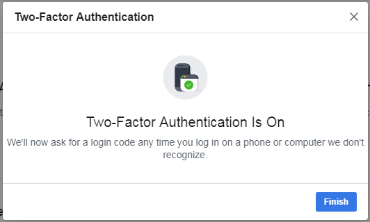 facebook two-factor authenticator