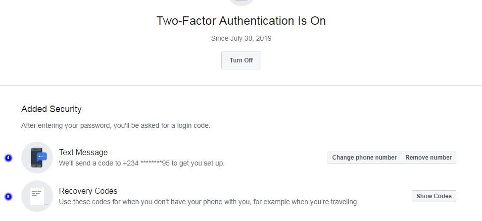 facebook account added security two factor authenticator