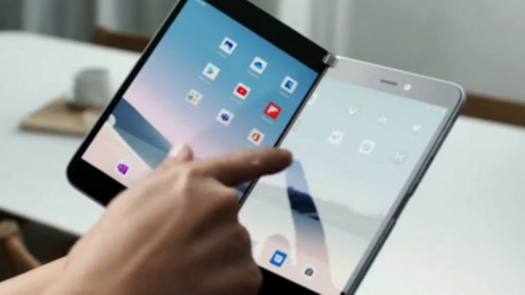 microsoft surface duo foldable android smartphone