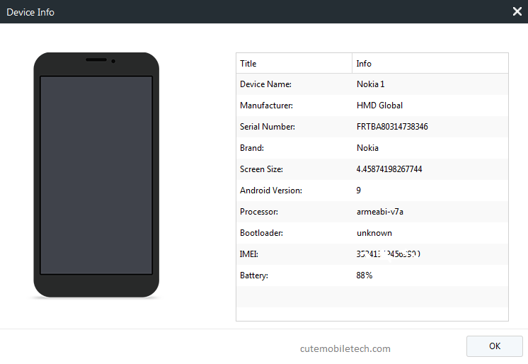 syncios Android manager phone info