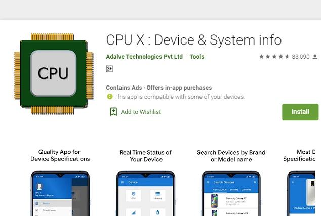 check processor chipset cpu x