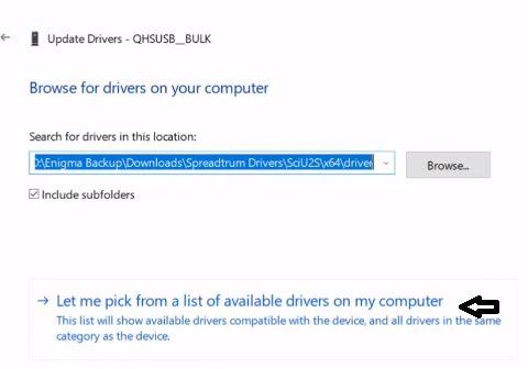 install Qualcomm QHSUSB BULK driver installation img 1