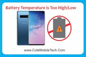 battery temperature is too high or low